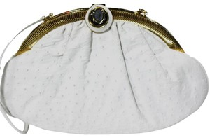 Judith Leiber Ostrich Cross Body Bag