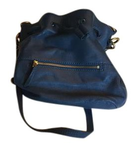 Fossil Leather Bucket Hobo Bag