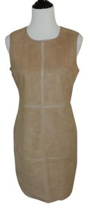 Esley short dress Camel Faux Suede Faux Leather on Tradesy