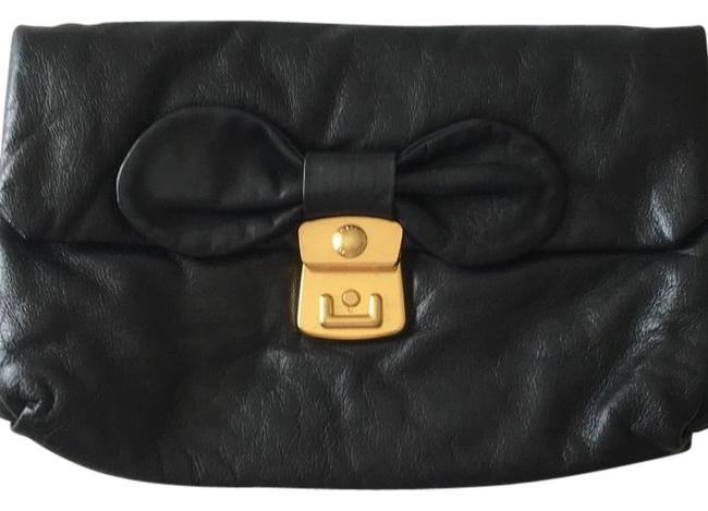 Item - Day To Night Black Leather Clutch