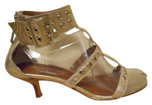 Donald J. Pliner Leather Studded gold Sandals