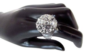 Yolpino Clear Large Cluster Crystal Ball Ring