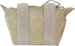 Judith Leiber Crystal Hand Tote in gold
