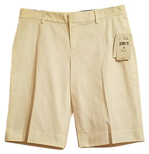 Ralph Lauren Black Label Wide Leg Bermuda Shorts white