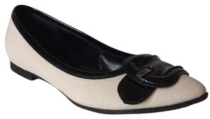 Fendi Black and Off White Flats