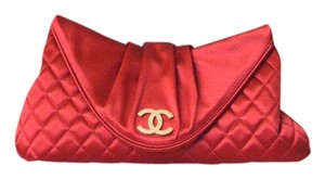 Chanel Satin Red Clutch