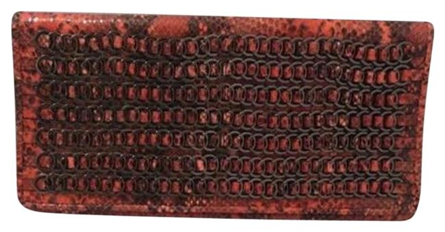 Item - Snakeskin Red Leather Clutch