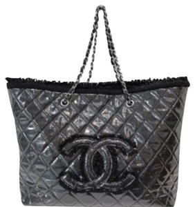 Chanel Tote in Grey Metallic