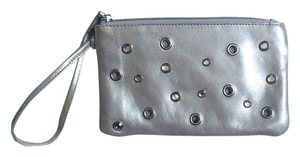 Hobo International Rhinestone Grommet Wristlet in SILVER