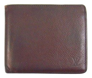 Louis Vuitton Red Epi Coated Leather Credit Card Slim ID Wallet France