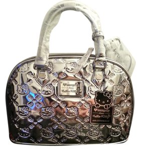 Loungefly Hello Kitty Special Edition Embossed Satchel in Silver