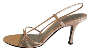 Nine West Leather Rose Gold Peach Sandals