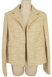 Ellen Tracy Embroidered Beige Blazer