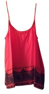 Hurley Print Hippie Boho Xsmall Small Summer Casual Top Red