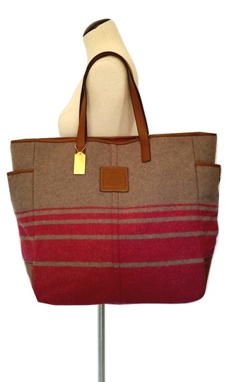 Coach Tote in Gray & pink