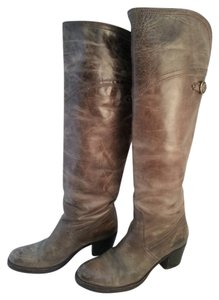 Frye 77594 Jane Tall Cuff Knee Grey Boots