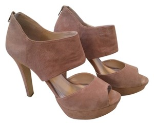 BCBGeneration Heel Suede Bcbg Fun Going Out Zip Up Taupe Platforms