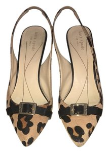 Kate Spade Camel/Brown Leopard Haircalf Pumps