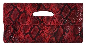 Hobo International Hobo Katrina Reptile RED snake print Clutch