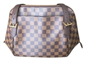 Louis Vuitton Monogram Checkered Leather Shoulder Bag