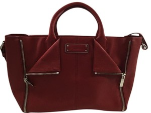 Alexander McQueen Tote Leather Satchel in Red