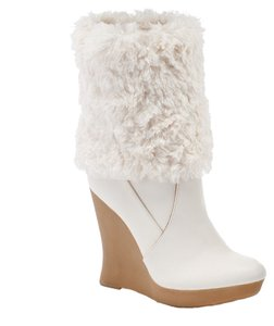 Jennifer Lopez White/Tan Wedges