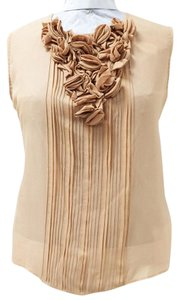 Aquilano Rimondi 7320570 Sleeveless Buttons-down Pleated Front Top Blush
