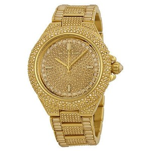 Michael Kors Michael Kors Camille Crystal Encrusted Gold Ion-plated Ladies Watch