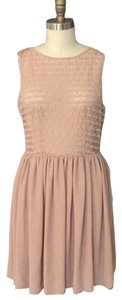 American Apparel short dress Nude on Tradesy