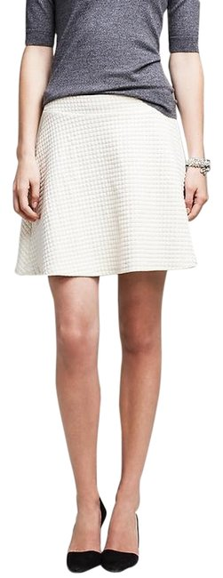 Banana Republic Quilted Mini Skirt Cocoon / Off-White
