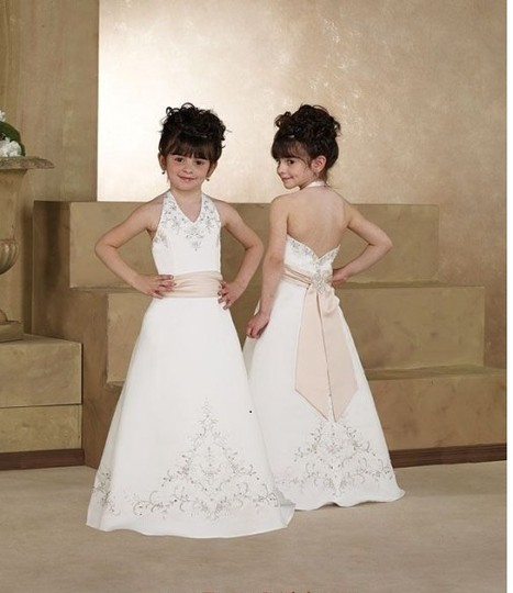 Forever Yours Ivory/ Baby Pink Size 10 / Flower Girl Dress