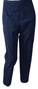 Piazza Sempione Straight Pants Navy Blue