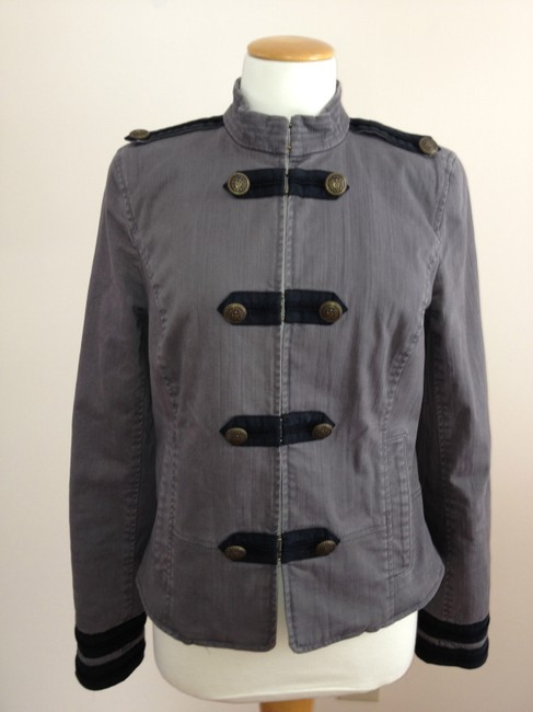 Juicy Couture Military Style Gray Blazer