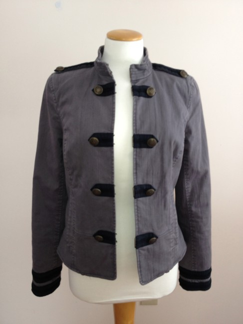 Juicy Couture Military Style Gray Blazer Image 2