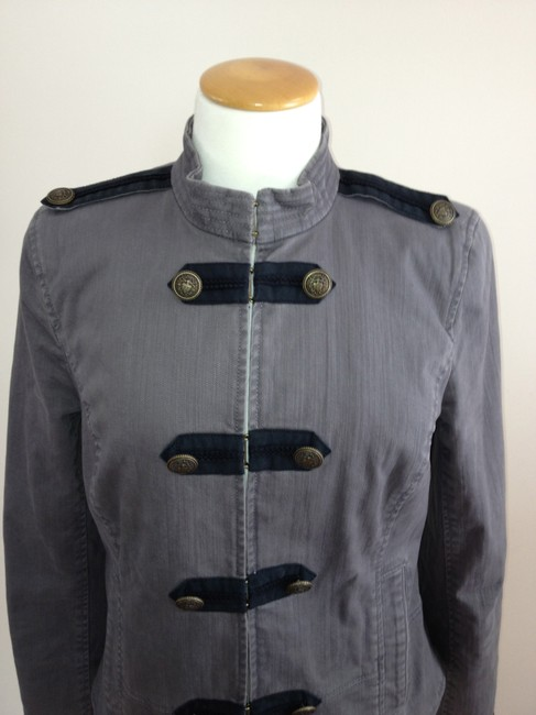 Juicy Couture Military Style Gray Blazer Image 3