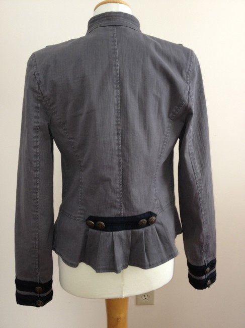 Juicy Couture Military Style Gray Blazer Image 5
