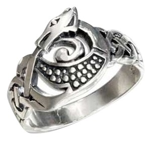 Unknown STERLING SILVER CELTIC DRAGON RING