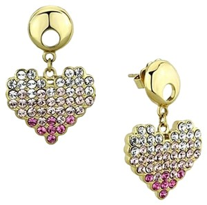 Other Heart Multi IP Gold (Ion Plating) Women Top Grade Earrings
