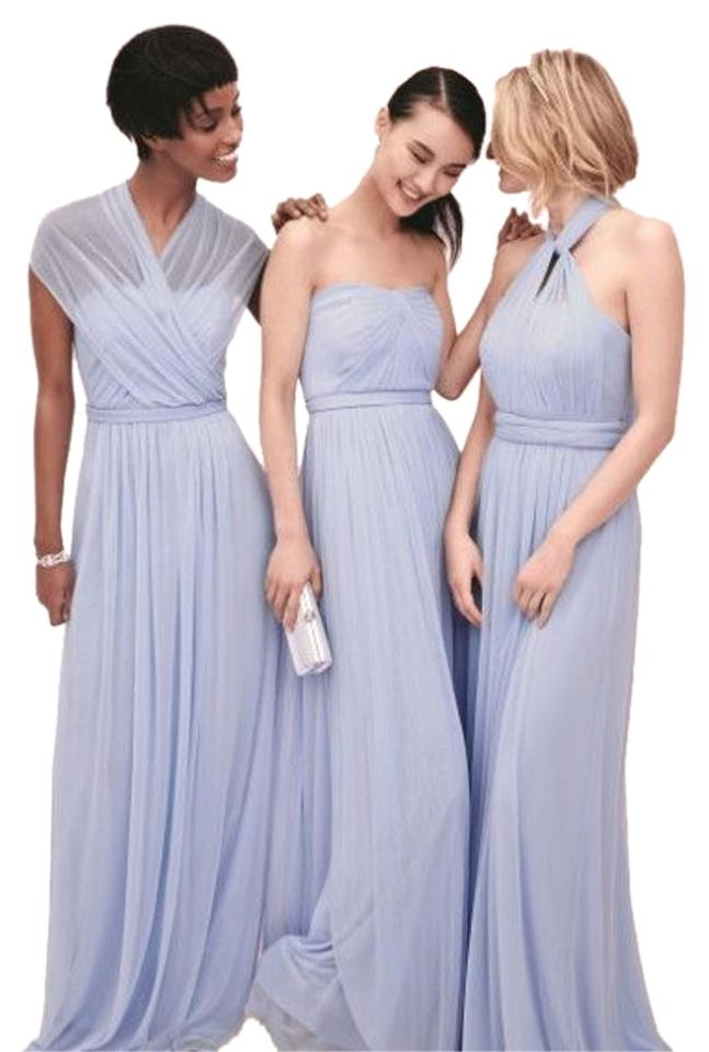 0a697fdb4c8 David s Bridal Ice Blue Versa Convertible Mesh Long Formal Dress ...