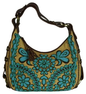 Isabella Fiore Designer Beaded Embroidered Hobo Bag