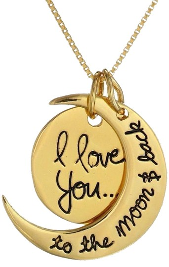 """Other Gold Tone """"I Love You To The Moon & Back"""" Pendant Necklace"""