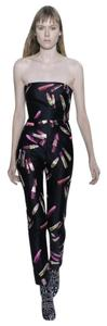 Giambattista Valli Lipstick Jumpsuit Strapless Dress