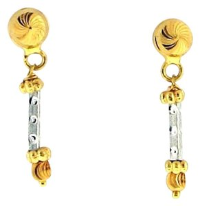 Other 22 karat yellow and white gold drop earrings