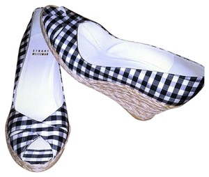 Stuart Weitzman BLACK/WHITE Wedges