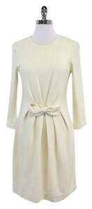 MILLY short dress Cream 3/4 Length Sleeve Wool Blend on Tradesy