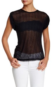 Free People Muscle Sheer T Shirt BLACK