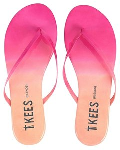 TKEES Flipflop Patent Leather Pink Sandals