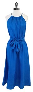 Rebecca Taylor Blue Sleeveless High Neck Dress