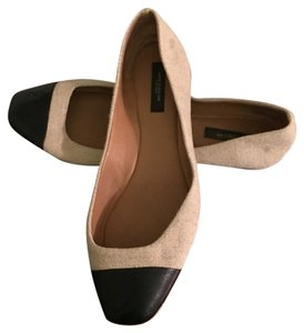 Ann Taylor Linen and black Flats