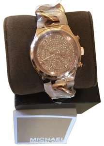 Michael Kors Michael Kors Blush/RoseGold Acetate Chain Link Chronograph Watch